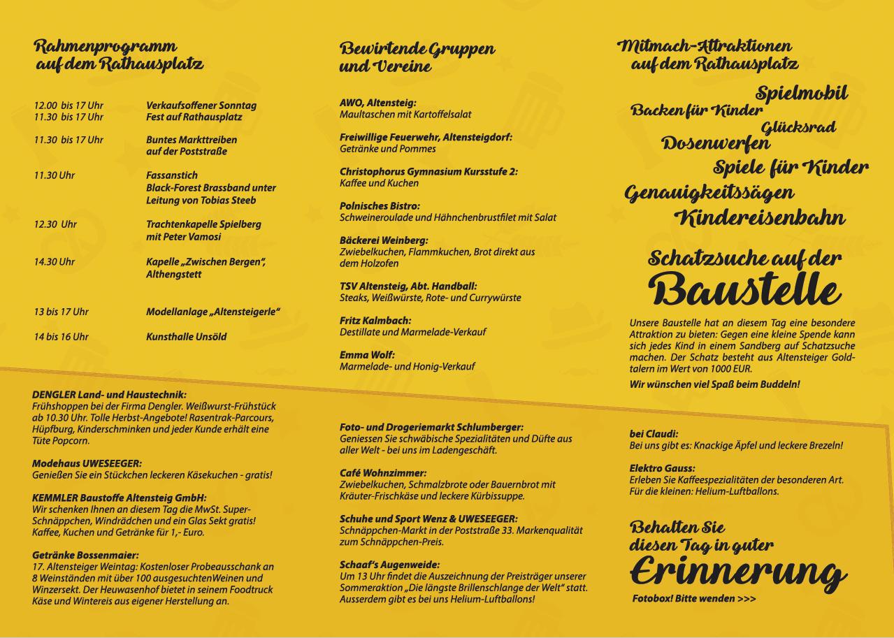 Flyer Oktoberfest Altensteig Blumen-Luz 2019 2